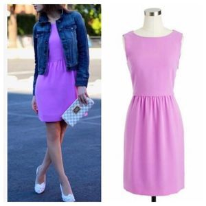 J. Crew Camille Bright Lilac Purple Neon Dress